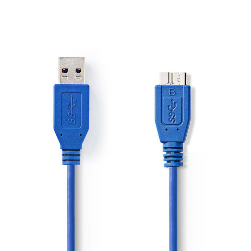 nedis USB 3.0-Kabel / A Male - Micro-B Male / 2,0 m / Blauw