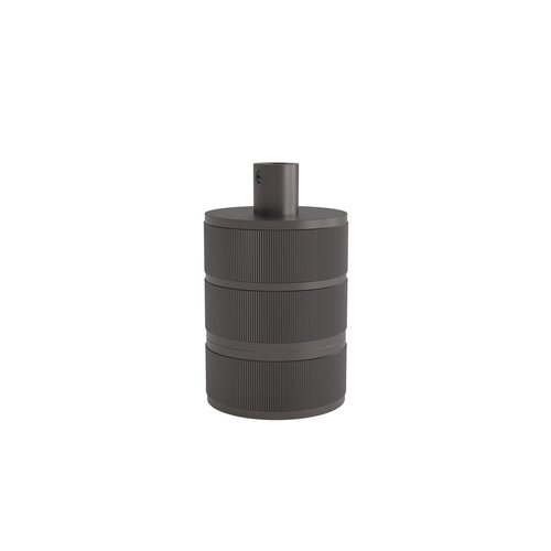 Calex Lamphouder Aluminium lamphouder, 3 rings model, mat parel zwart