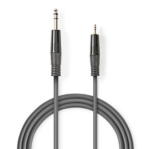 nedis Stereo audiokabel / 6,35 mm male - 3,5 mm male / 3,0 m / Grijs