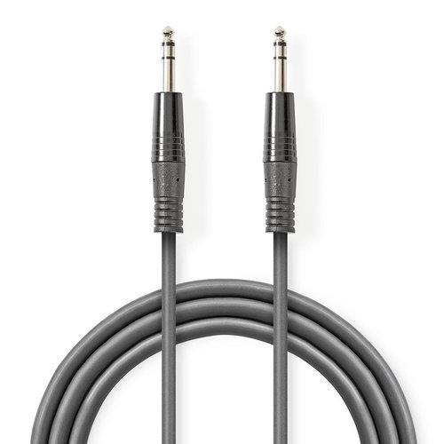 nedis Gebalanceerde Audiokabel / 6,35 mm male - 6,35 mm male / 1,5 m / Grijs