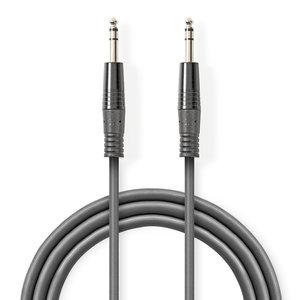 nedis Gebalanceerde Audiokabel / 6,35 mm male - 6,35 mm male / 3,0 m / Grijs