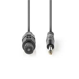 nedis Luidsprekerkabel 1,5 mm2 / Luidspreker 2-pins female - 6,35 mm male / 5,0 m / Grijs