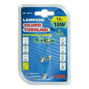 Lampa 15x41mm buis lamp 12V 18W