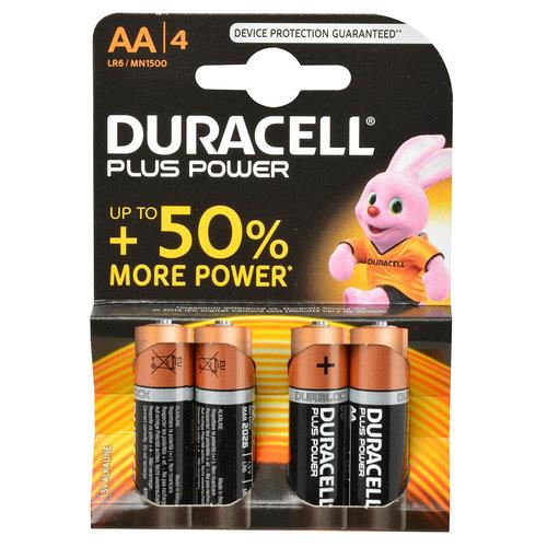 Duracell Duracell Batterij Alkaline Plus Power Mn1500 Penlite Aa Lr6