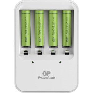 GP B421 USB Batterijlader Recyko 4x AAA 850mAh