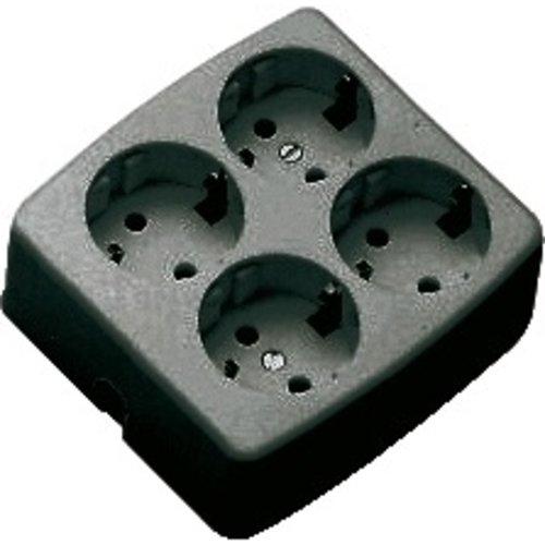 Martin Kaiser TCD monteerbaar 4V + RA vierkant zwart zonder snoer