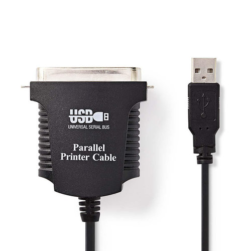 nedis Printerkabel USB-A Male - Centronics 36-Pins Male / 2,0 m / Zwart