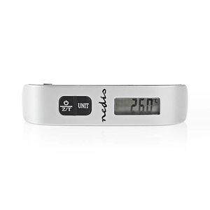 nedis Digitale Bagageweegschaal | 50 kg / 110 lbs | Thermometer