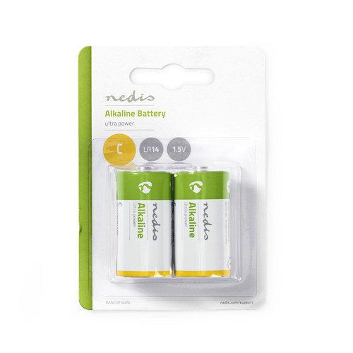 nedis Alkaline batterij C / 1,5 V / 2 stuks / Bl