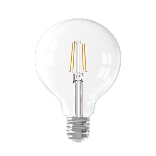 Calex Ledlamp Filament Globe lamp 240V 6 Watt 600 Lumen 2700K Helder