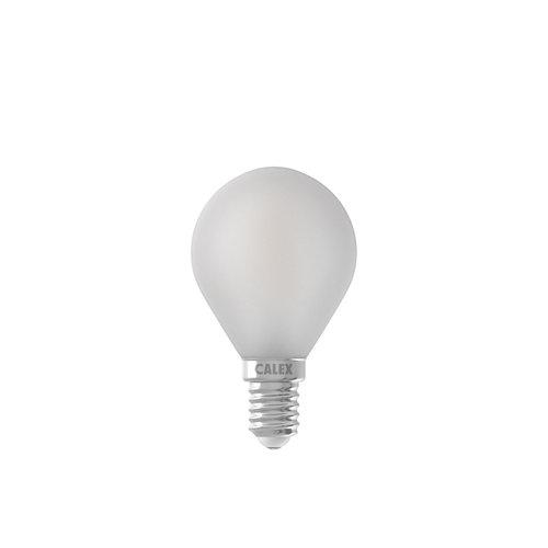 Calex Ledlamp LED Volglas Filament Kogellamp Mat Dimbaar