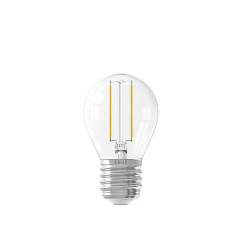 Calex Ledlamp Filament Kogellamp 240V 2 Watt 200 Lumen 2700K Helder