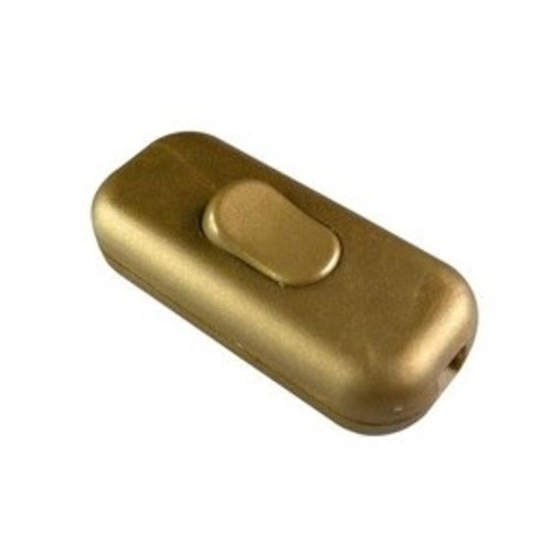 Universeel Snoerschakelaar 1P goud