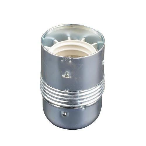 Universeel Fitting E27 metaal glad chroom