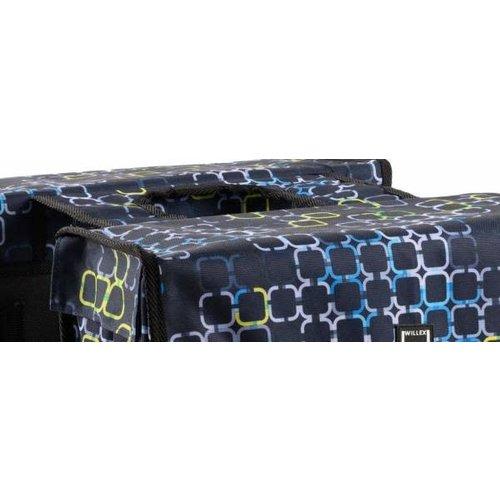 Willex Willex Cyber Dubbele Fietstas 36 Liter - Zwart/Blauw