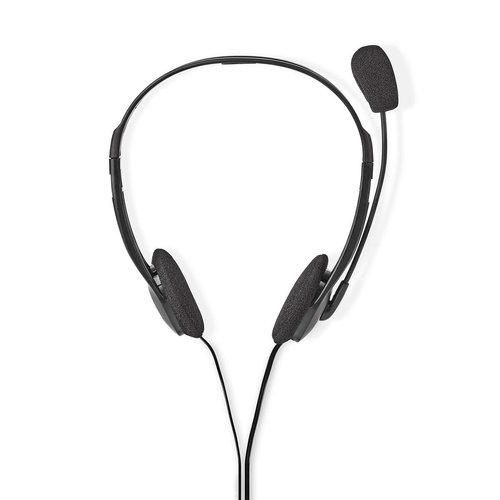nedis PC-Headset / On-Ear / 2x 3,5 mm Connectoren / 2,0 m / Zwart