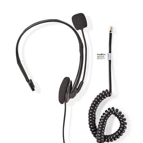 nedis PC-Headset   On-Ear   RJ9-Connector   2,2 m   Zwart
