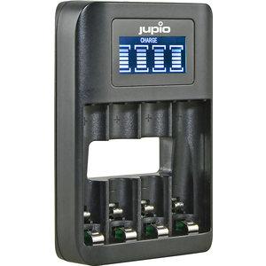 Jupio Jupio USB 4-slots Battery Fast Charger LCD AA & AAA
