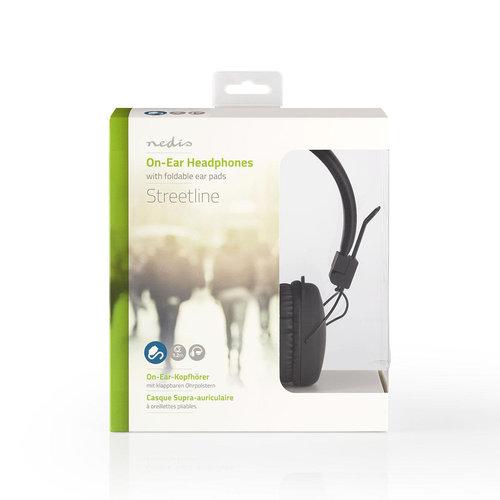 nedis Bedrade hoofdtelefoon / On-ear / Opvouwbaar / 1,2 m ronde kabel / Zwart