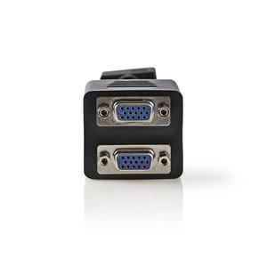 nedis VGA-kabel / VGA male - 2x VGA female / 0,2 m / Zwart