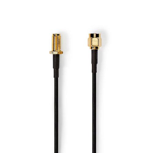 nedis Antennekabel / SMA Male - SMA Female / 2,0 m / Zwart