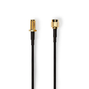 nedis Antennekabel / SMA Male - SMA Female / 5,0 m / Zwart