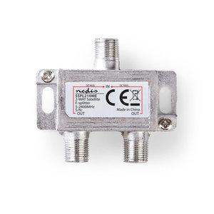 nedis Satelliet F-splitter / Max 6,5 dB versterking / 5 - 2400 MHz / 2 uitgangen