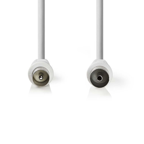 nedis Coaxkabel 90 dB / IEC (Coax) Male - IEC (Coax) Female / 3,0 m / Wit