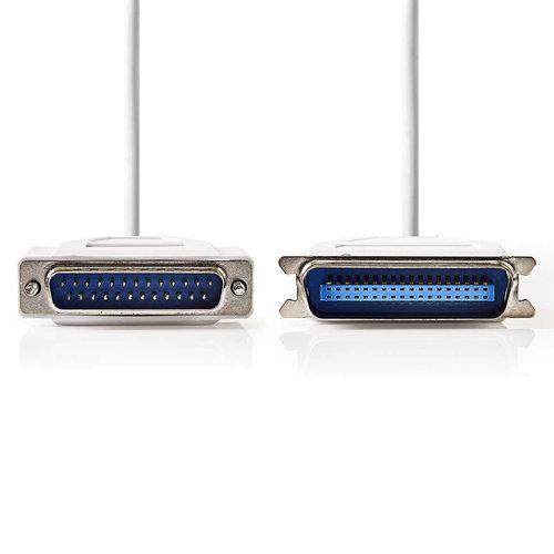 nedis Printerkabel / D-Sub 25-Pins Male - Centronics 36-Pins Male / 2,0 m / Ivoor