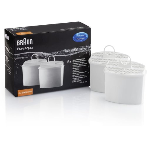 Braun Waterfilter Vermindert kalk en chloor