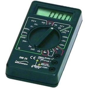Soundex Multimeter Digitaal Zwart Dm25