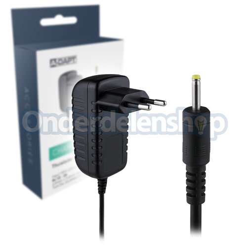 A-DAPT Thuislader tablet dunne pin 9V zwart