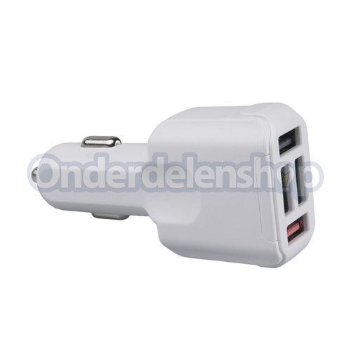 A-DAPT Autolader 4xUSB Quickcharger .0 - 5.1A wit