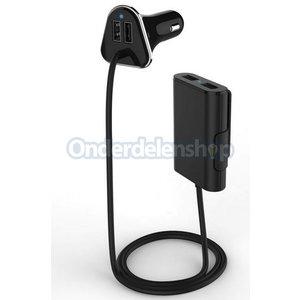 A-DAPT Autolader 4xUSB 9,6A zwart