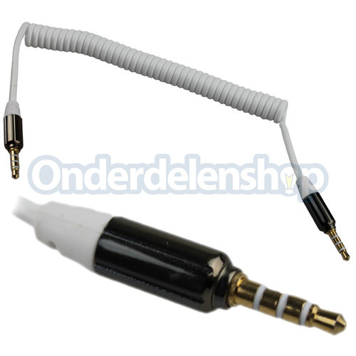 A-DAPT Audio en video kabel 3,5mm spiraal wit
