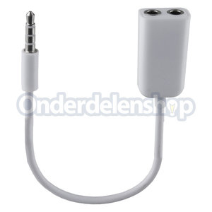 A-DAPT Verloopkabel 3,5mm - x 3,5mm wit