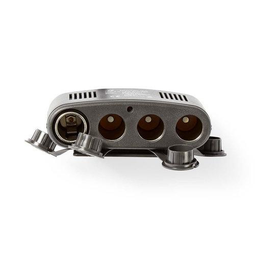 nedis Universele DC-voedingsadapter / 5/12 V DC / Autolader/USB / 4-weg