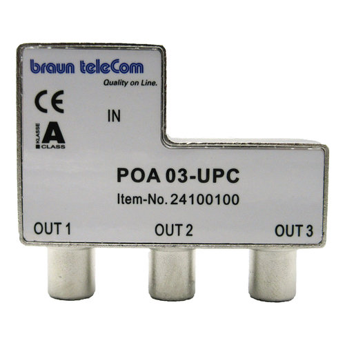 Braun Telecom Verdeel element Push on IEC 3-weg splitter