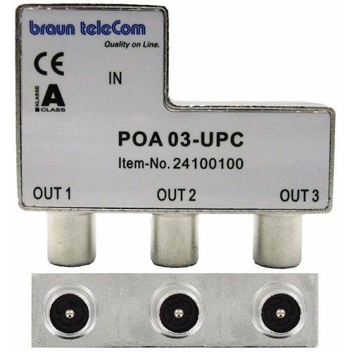 Braun Telecom Verdeel element Push on IEC 3-weg splitter