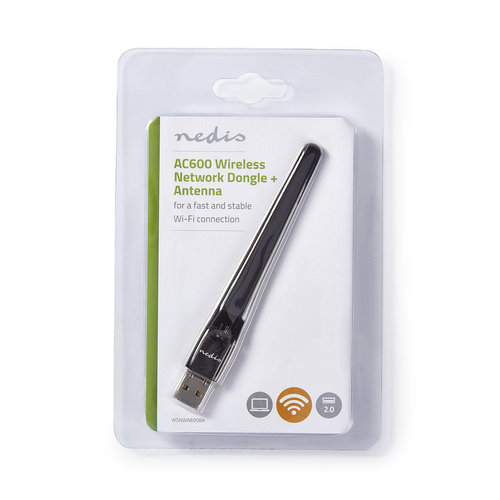 nedis Dongle voor Draadloos Netwerk / AC600 / Dual Band / Zwart