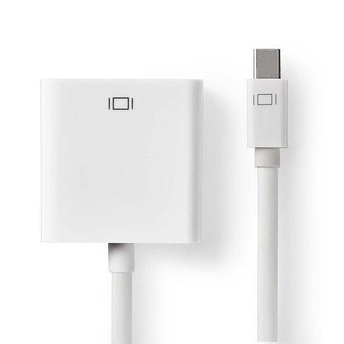 nedis Mini-DisplayPort - VGA-kabel / Mini-DisplayPort male - VGA female / 0,2 m / Wit