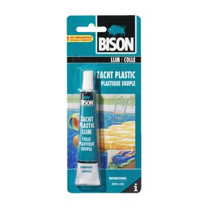 Bison bison zacht plastic lijm 25ml kaart