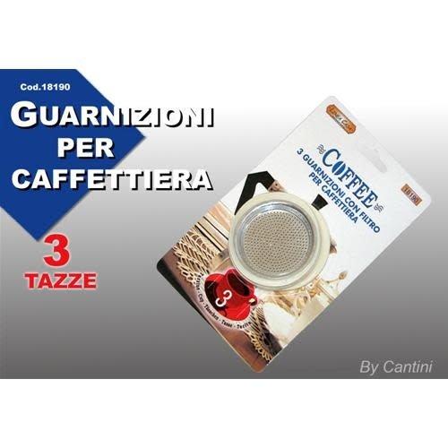 Universeel Koffie Caffettiere zeefje met rubber