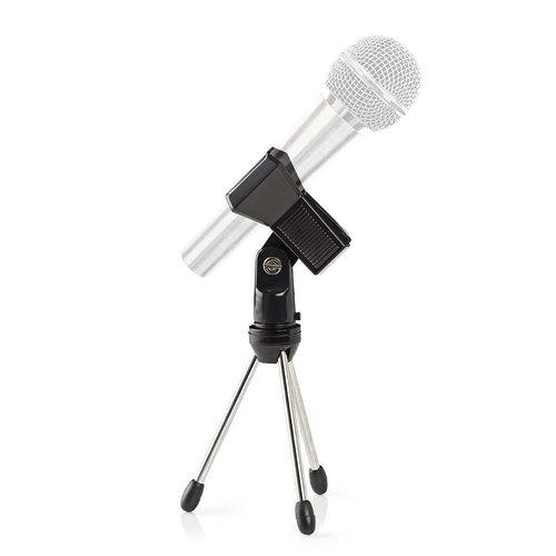 nedis Tafelstandaard voor Microfoon / Max. 0,8 kg / Zwart / / Zilver
