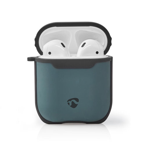 nedis AirPods 1 and AirPods 2 Case | Green / Black
