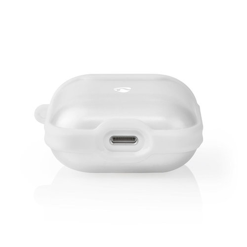 nedis AirPods 1 en AirPods 2 Case | Transparant / Wit