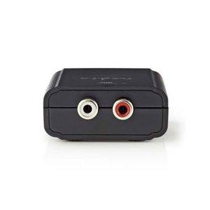 nedis Digitaal naar stereo audio-omzetter / 1-weg - Digitaal RCA (S/PDIF) + Toslink / 2x RCA (stereo)