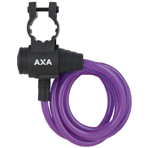 Axa AXA Zipp kabelslot paars 120cm eu8mm
