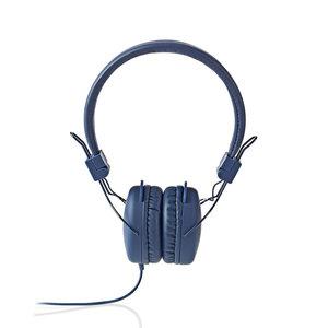 nedis Hoofdtelefoon met snoer / On-ear / Opvouwbaar / 1,2 m ronde kabel / Blauw