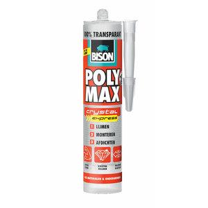 Bison Lijm Poly Max Crystal Express, Transparant